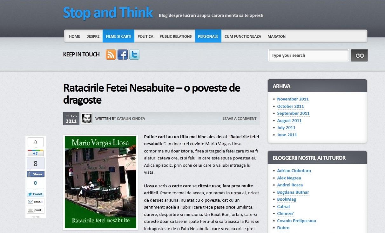 Primul câștigător al concursului BookMag de recenzii  Cătălin Cîndea – stopthink.ro