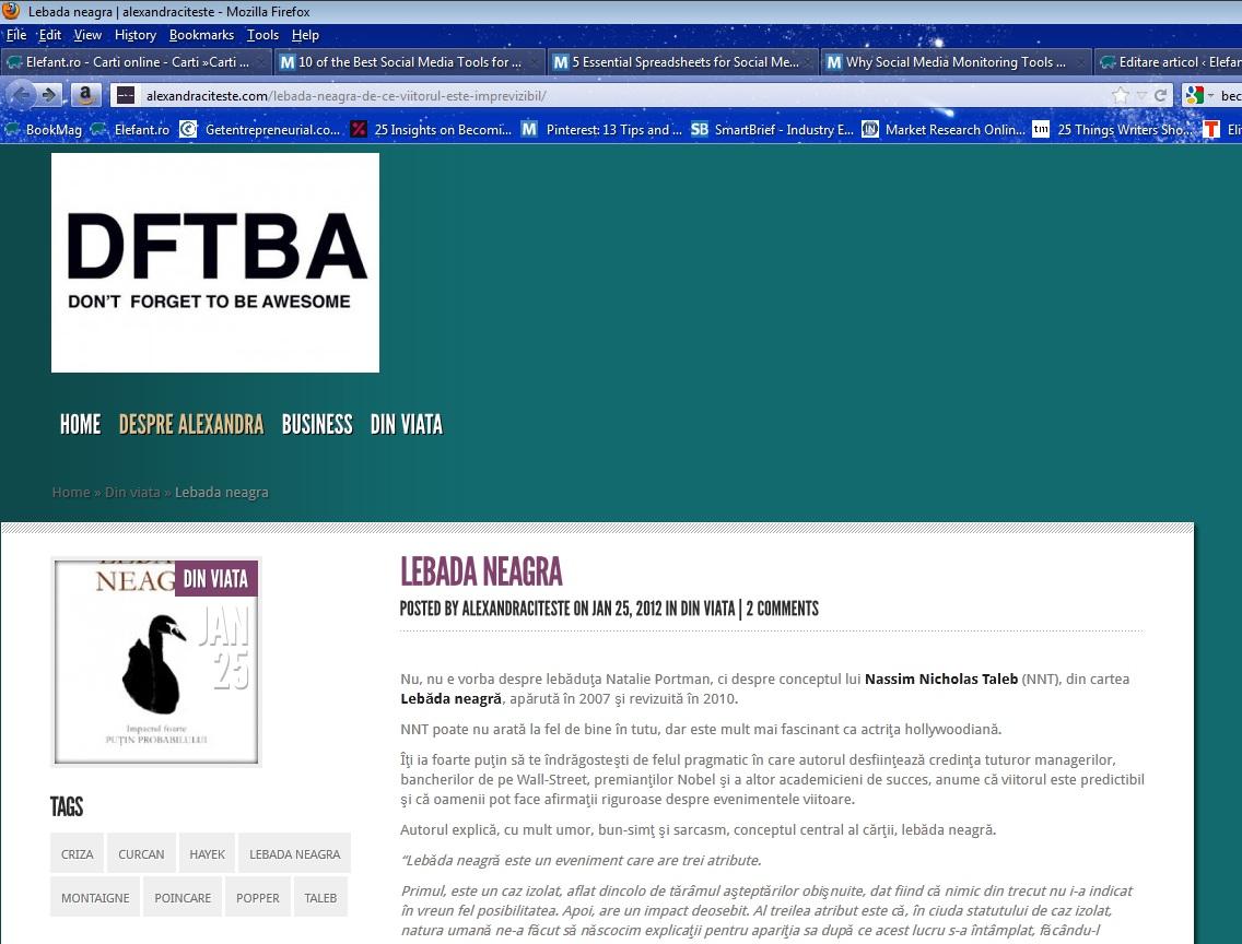Alexandracitește: câștigătoarea concursului de recenzii pentru bloggeri