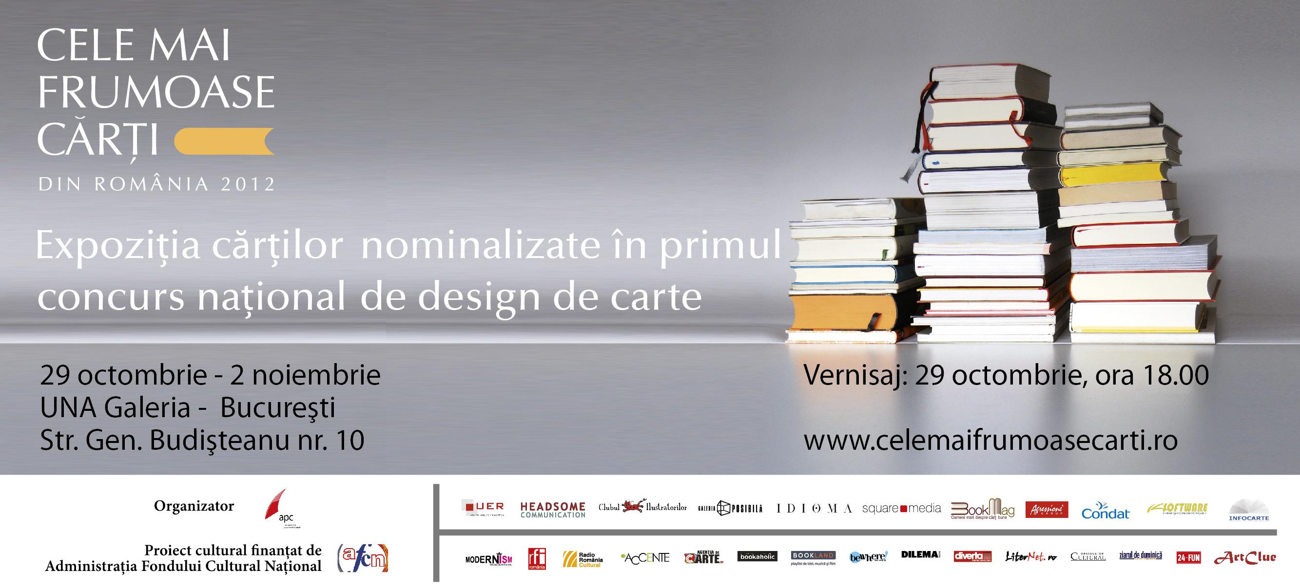 """Premiile primului concurs naţional de design de carte şi vernisajul expoziţiei """"Cele mai frumoase cărţi din România"""""""