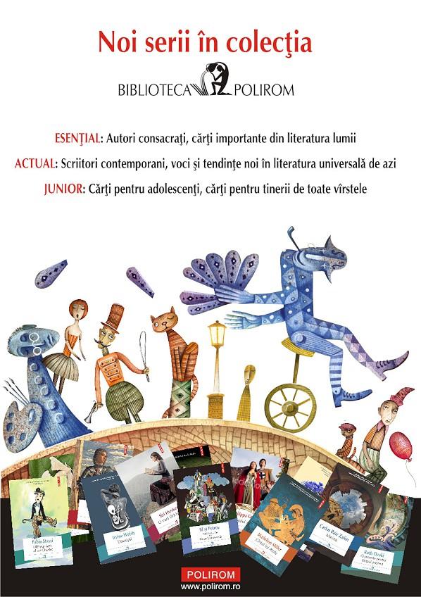 Noi serii în colecţia Biblioteca Polirom: Esenţial, Actual, Junior