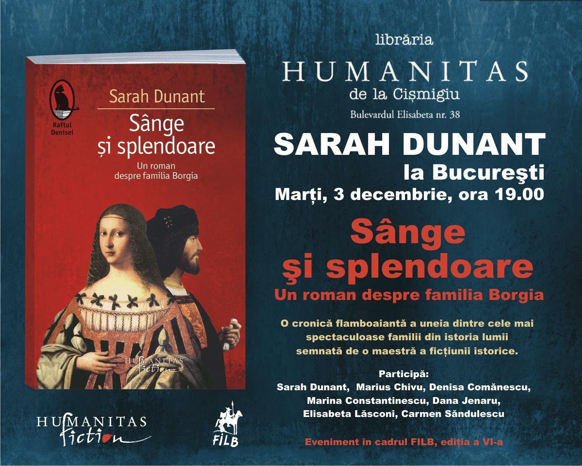 Sarah Dunant este invitata celei de a VI-a ediţii FILB