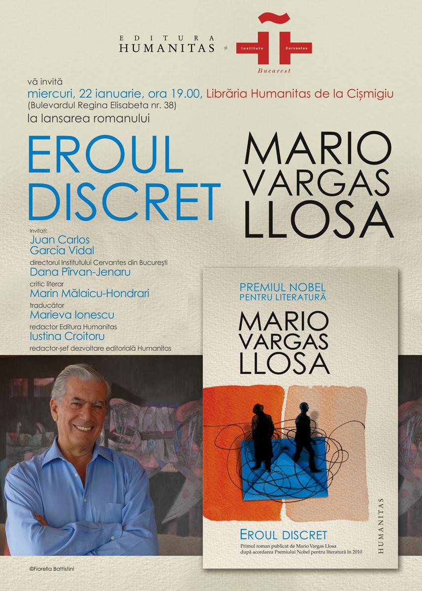 Eroul discret, primul roman al lui Mario Vargas Llosa după Nobel