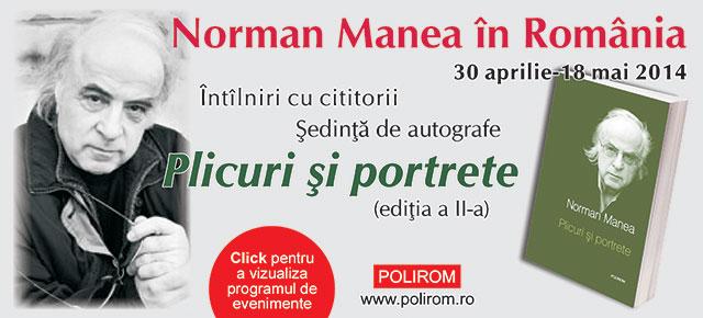 Întâlniri de neratat: Norman Manea în România!