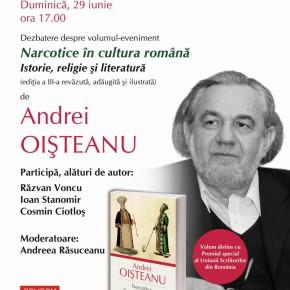 """""""Narcotice în cultura română"""", de Andrei Oişteanu, în dezbatere"""