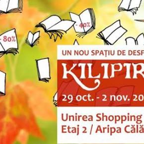 KILIPIRIM, cel mai important târg de carte cu discount,  se mută la Unirea