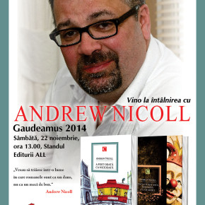 Andrew Nicoll, invitatul Editurilor ALL la Gaudeamus 2014