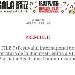Argint pentru FILB 7 la Gala Societății Civile, ediția a XIII-a