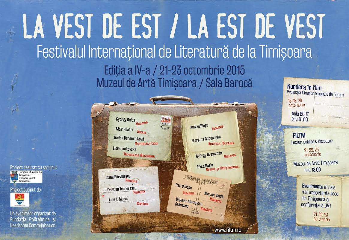 Scriitori din Ungaria, Austria, Israel, Ucraina, Bosnia și Herțegovina, Cehia, Macedonia vin la FILTM 4
