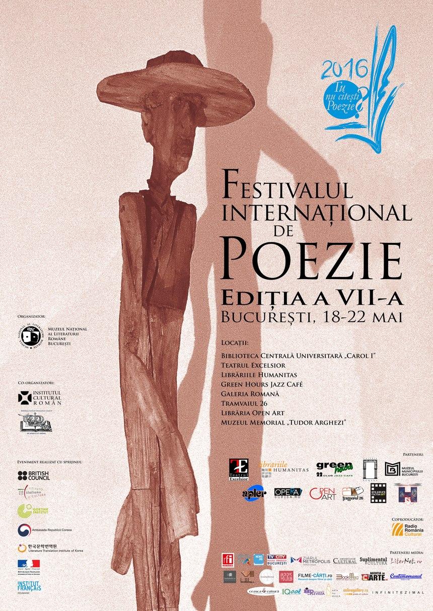 Peste 100 de poeţi din 23 de ţări la Festivalul Internaţional de Poezie Bucureşti