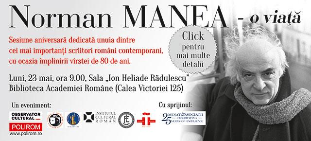 Sesiune aniversară Norman Manea la Biblioteca Academiei Române