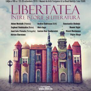 Legendarul disident anticomunist polonez Adam Michnik și cunoscutul istoric român Adrian Cioroianu, în deschiderea FILTM 2019